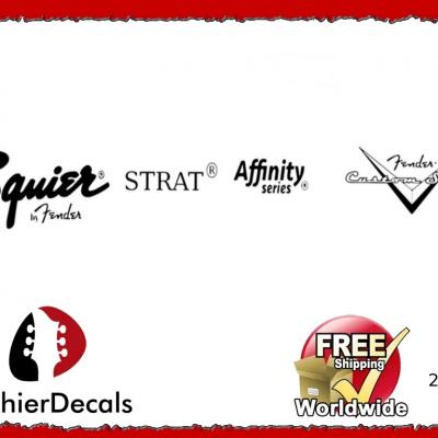 251b Squier Strat Affinity Guitar Decal