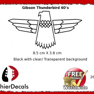 261b Gibson Thunderbird Guitar Decal