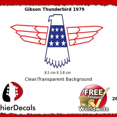 264b Gibson Thunderbird Guitar Decal
