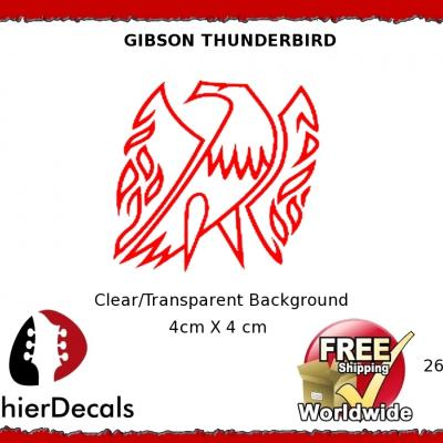 266b Gibson Thunderbird Guitar Decal