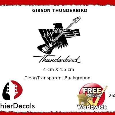 268b Gibson Thunderbird Guitar Decal