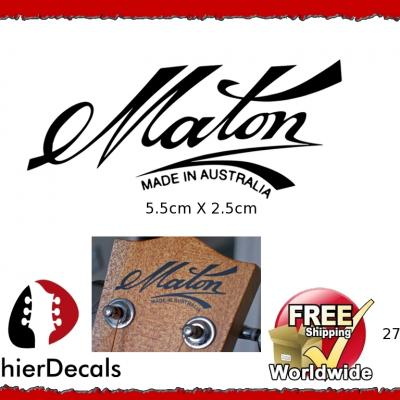 276b Maton Guitar Decal