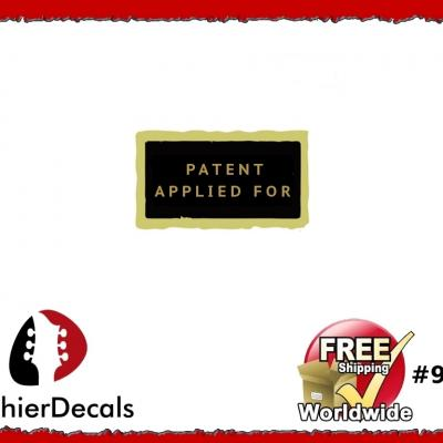 99b Patent Number Applied For Decal Aged