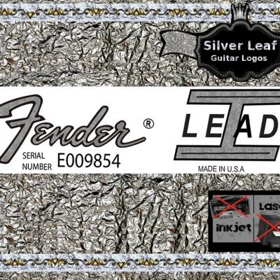 101s Fender Lead 1 Guitar Decal