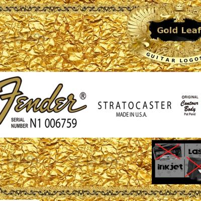 103g Fender Stratocaster Made In U.s.a. Guitar Decal