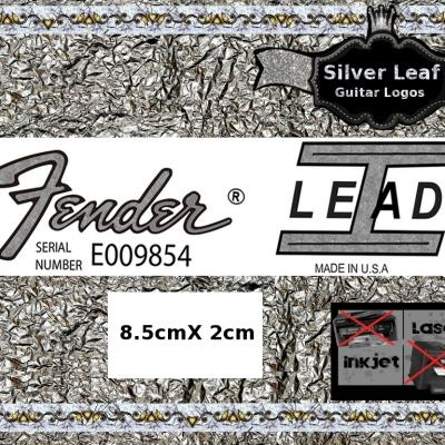 104s Fender Lead 1 Guitar Decal