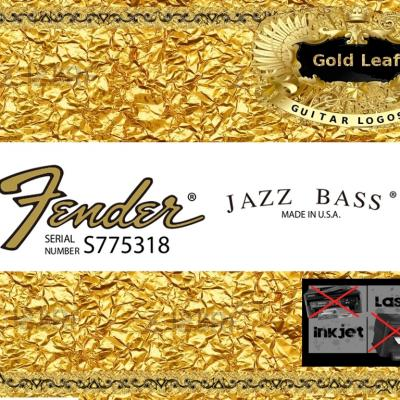 120g Fender Jazz Bass Guitar Decal