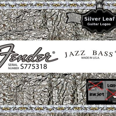 120s Fender Jazz Bass Guitar Decal