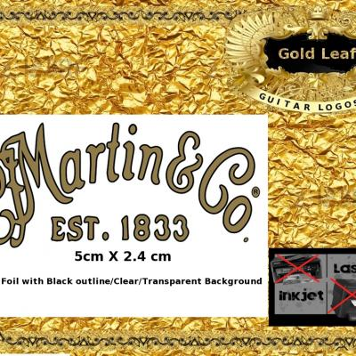 140g Martin And Co. Guitar Decal