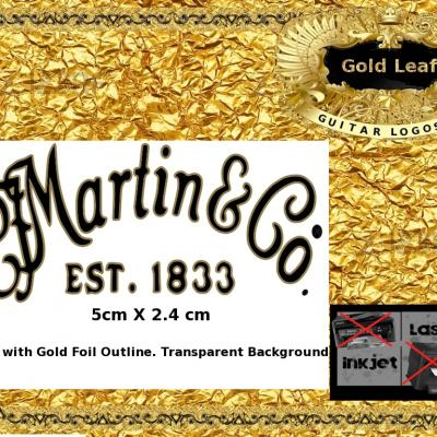141g Martin And Co. Guitar Decal