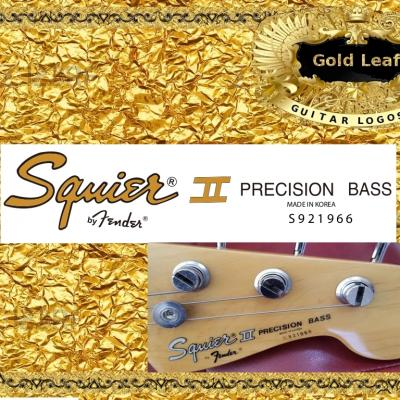 152g Squier Precision Bass Guitar Decal