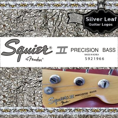 152s Squier Precision Bass Guitar Decal