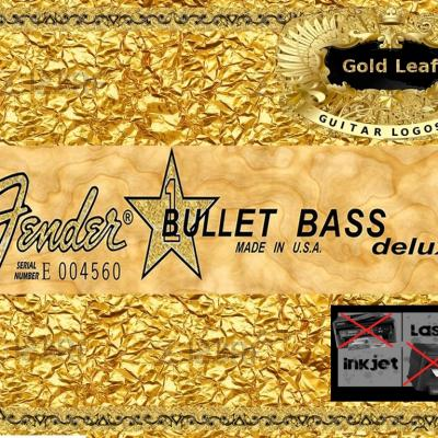 74g Squier Bullet Bass Guitar Decal