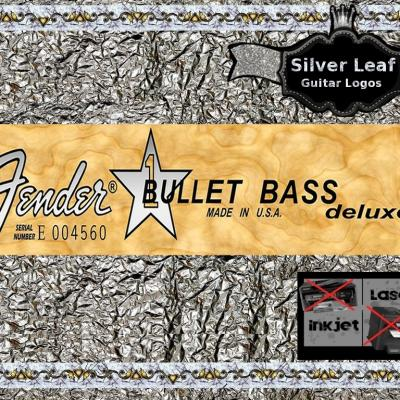74s Squier Bullet Bass Guitar Deluxe Decal