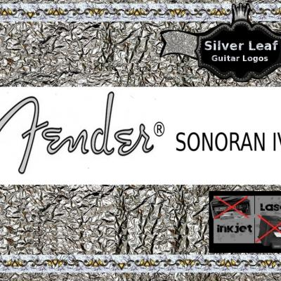 90s Fender Sonoran Iv Guitar Decal