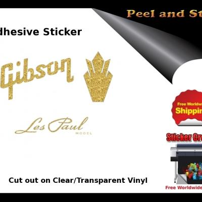 V12b Gibson Guitar Decal