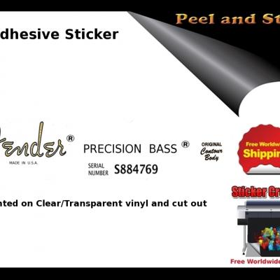 V14b Fender Precision Bass Guitar Decal