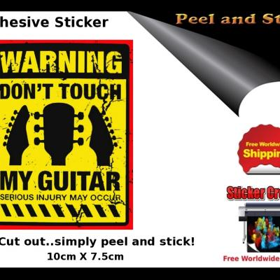 V18b Dont Touch Guitar Sticker