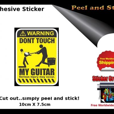 V19b Dont Touch Guitar Sticker