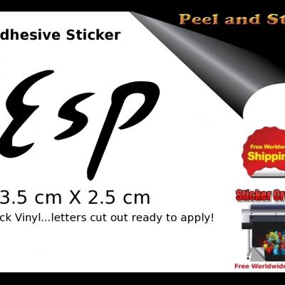 V24b Esp Guitar Sticker Decal