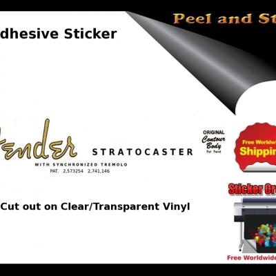 V6b Fender Stratocaster Guitar Decal Sticker