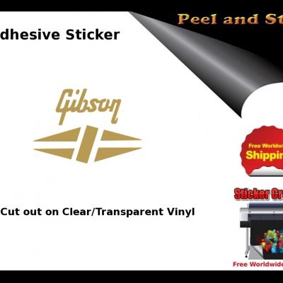 V8b Gibson Guitar Decal Sticker