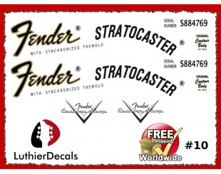 Fender Stratocaster Decals