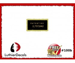 Humbucker Patent Number Decal Guitar Decal #100b