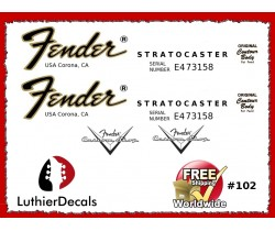 Fender Decal Stratocaster Guitar #102