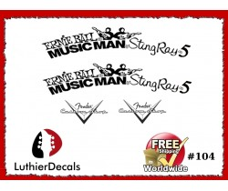 Musicman StingRay 5 Guitar Decal Copy #104