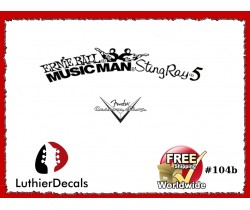 Musicman Ernie Ball Sting Ray 5 Guitar Decal #104b