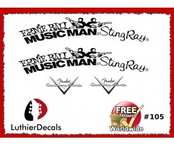 Musicman Ernie Ball Guitar Decal #105