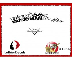 Musicman Ernie Ball Sting Ray Guitar Decal #105b