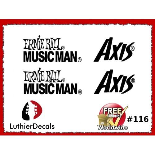 guitar decals restoration logos musicman ernie ball axis