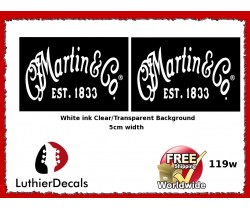 Martin & Co. Guitar Decal 119w