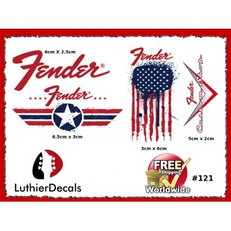 Fender Decal Guitar Waterslide Kit #121