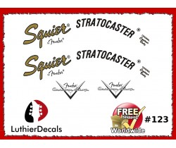 Fender Squier Stratocaster Guitar Decal #123