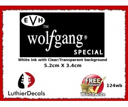 EVH Wolfgang Guitar Decal Headstock Waterslide 124wb
