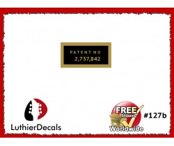 Humbucker Patent Number Decal Guitar  Decal #127b