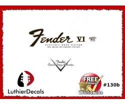 Fender Electric Bass VI Guitar Decal #130b