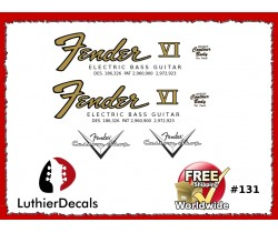 Fender Electric Bass VI Guitar Decal #131