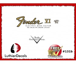 Fender Electric Bass VI Guitar Decal #131b