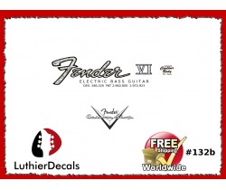 Fender Electric Bass VI Guitar Decal #132b