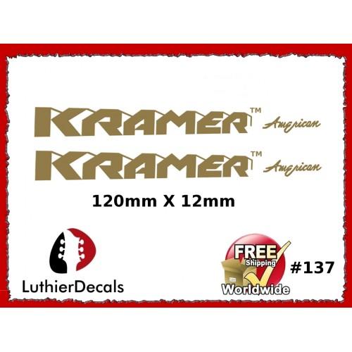 2b6b04a4513 Guitar Decals Restoration Logos - Kramer American Guitar Decal  137
