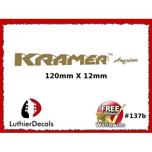 5a432ad631b Guitar Decals Restoration Logos - Kramer American Guitar Decal  137b