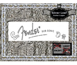 Fender Sub Sonic Guitar Decal 13s