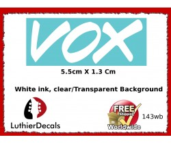 Vox Guitar Decal 143wb