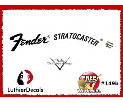 Fender Stratocaster Guitar Decal #149b