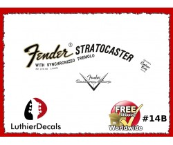 Fender Decal Stratocaster Guitar Decal #14b