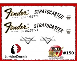 Fender Stratocaster Guitar Decal #150